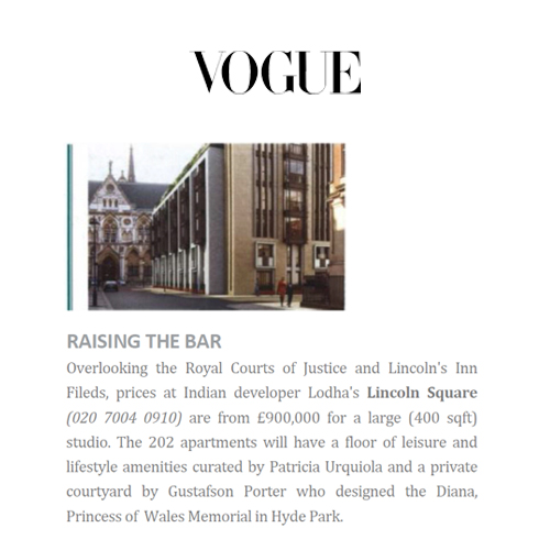 Lodha in Vogue